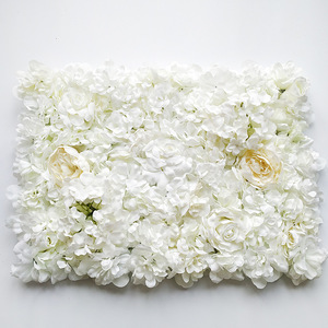 Image 5 - 60*40CM Artificial Flowers Wall Hanging Flower Head Silk Rose Floral For Wedding Backdrop