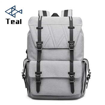 Men's Backpacks Large capacity Backpacks Canvas Laptop 15.6 Inch 17 Inch Backpacks Multifunction Anti-theft Bags for teenagers фото