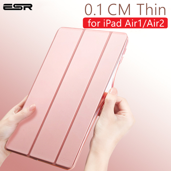 ESR Case for iPad Air2 Air1 Protective Cover Magnetic Slim PU Leather Stand Auto Sleep Wake Smart Case for Apple iPad Air 1 2 protective flip open pu case w stand auto sleep for 8 asus fonepad 8 fe380cg red