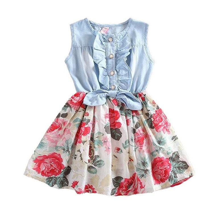 Baby Girl Dress Summer New Flower Girls Dresses Kids Brand Princess Dress For Girl Child Clothes 2-9Y