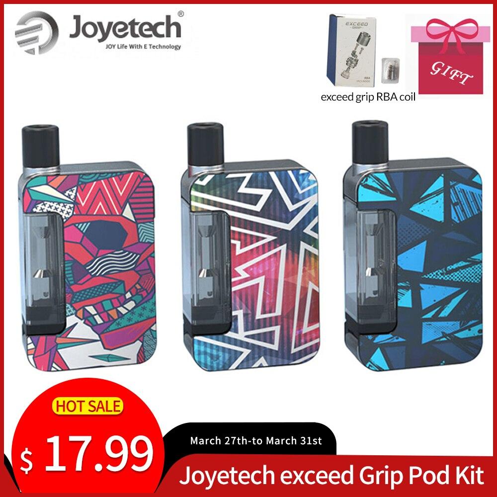 [RBA Gift] Original Joyetech Exceed Grip Kit Built In 1000mAh &EX-M Coil RBA Coil VS Drag Nano E-Cigarette Vaporizer Pod Vape