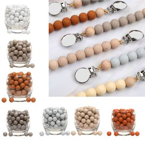 20pcs Silicone Loose Beads Teething Beads DIY Chewable Teether For Infant Baby Y4QA