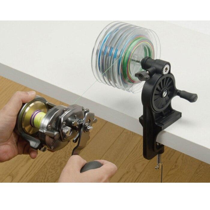 Linha de pesca portátil dobadoura spooler máquina