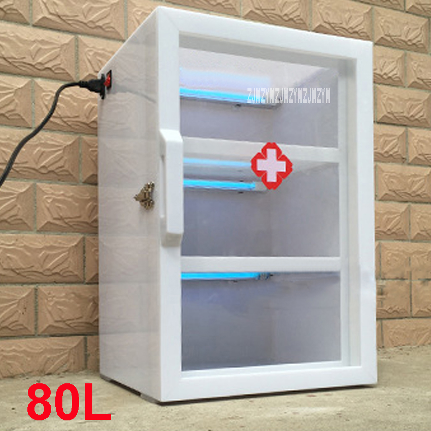 80L Medical UV Disinfection Machine Household Three-layer UV Sterilization Sterilizer Machine Acrylic Disinfection Cabinet 220V