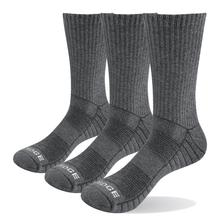 Hiking Socks Cushion Outdoor-Sports Cotton Crew Lot YUEDGE Men 3-Pairs Combed EU Terry