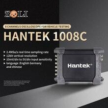 Hantek 1008Cポータブルusbのpcのデジタル · ストレージ · オシロスコープ 8 チャンネルプログラム発生器自動車多機能オシロスコープ