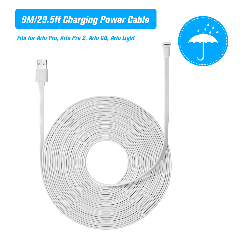 6M Charging Power Cable Fits For Arlo Pro, Arlo Pro 2, Light Micro USB Cable Charging Cord Without Plug