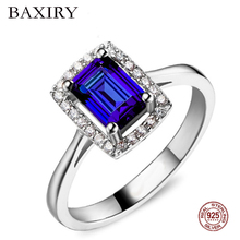 Trendy Luxury Ruby Ring 925 Sterling Silver Rings For Women Gemstones Natural Jewelry Engagement Blue Topaz