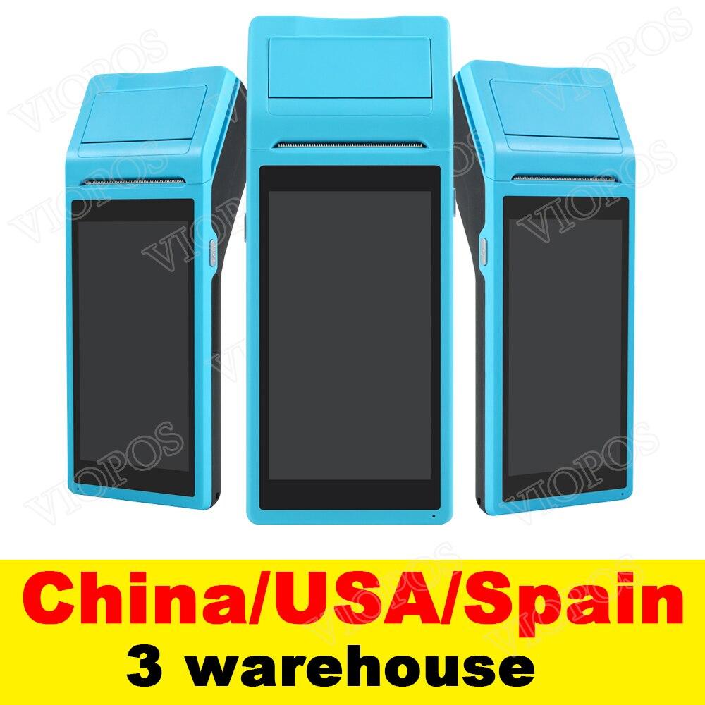 V1 pos-терминал PDA с беспроводной системой Android, Bluetooth, Wi-Fi, встроенным термопринтером и сканером штрих-кодов