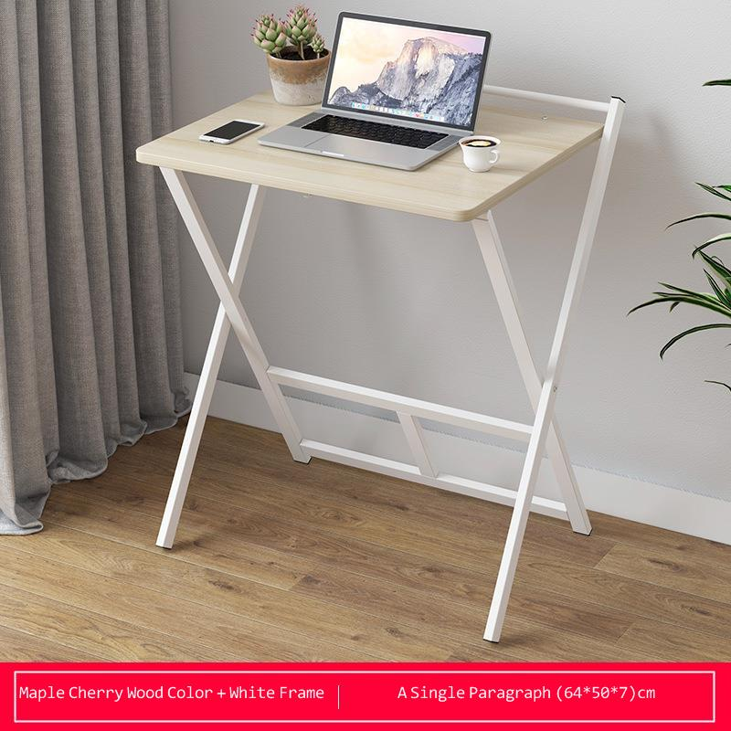 Household Simple Economical Computer Desk Desktop Folding Small Table Student Dormitory Bedroom Simple Study Sturdy Durable