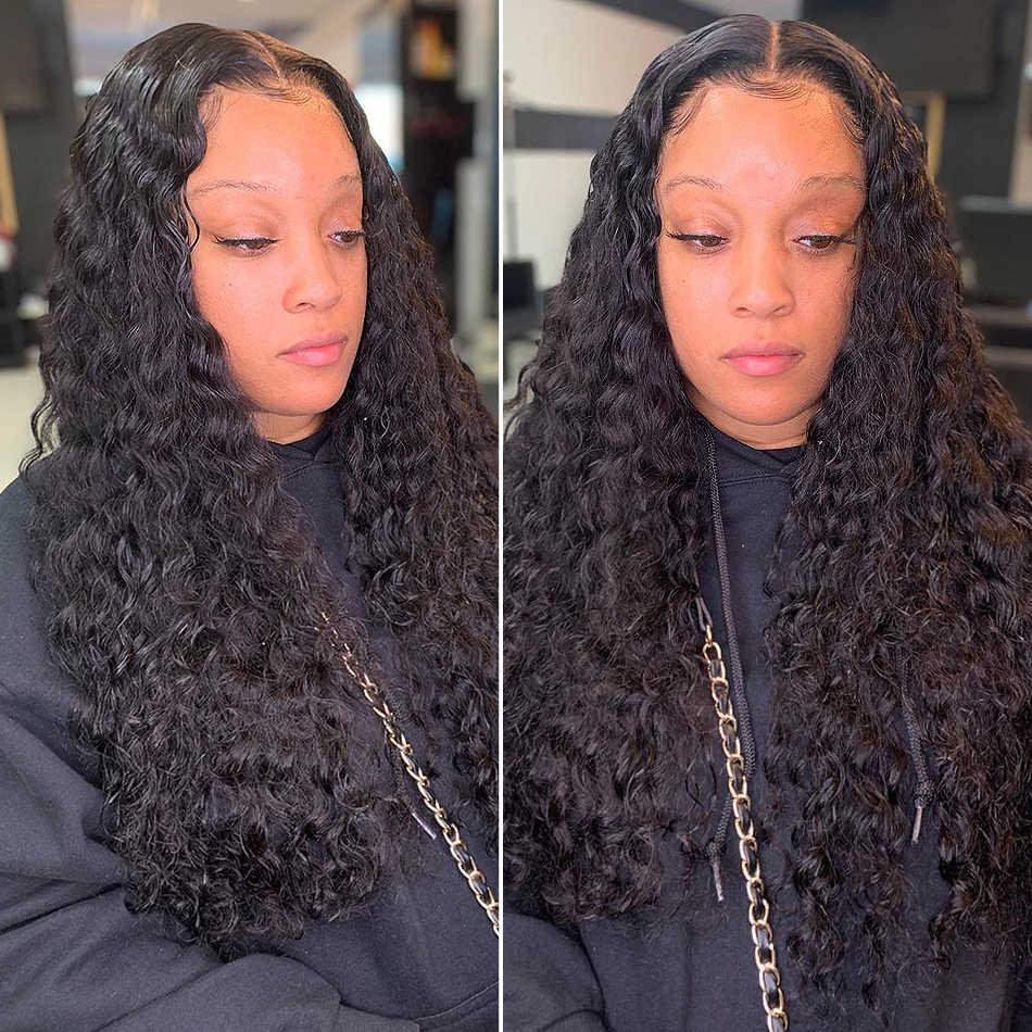 1/3/4 demetleri 28 30 32 34 40 inç derin gölgeli brezilyalı saçı örgü demetleri kıvırcık saç demetleri 100% insan saç su dalgası Remy saç