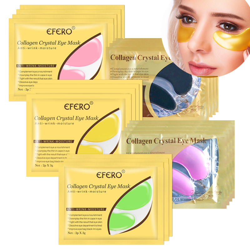 5/8/10/15pair Eye Mask Crystal Collagen Gold Masks Gel Eye Patches Anti Dark Circles Anti Aging Moisturizing Eye Pads Face Mask