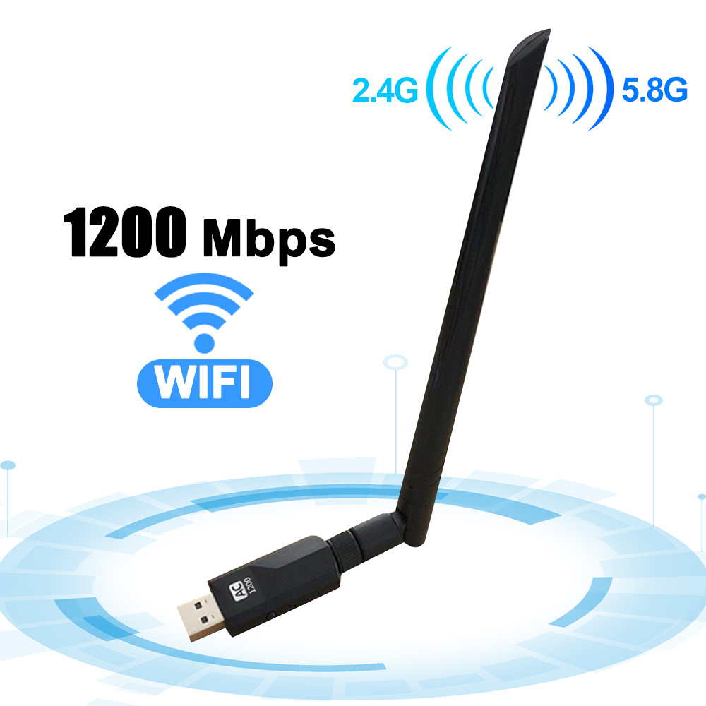 <font><b>USB</b></font> <font><b>3.0</b></font> 1200Mbps Wifi Adapter Dual Band 5GHz 2.4Ghz <font><b>802.11AC</b></font> RTL8812BU Wifi Antenna Dongle Network Card For Laptop Desktop image