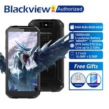 "Blackview BV9500 בתוספת נייד טלפון אנדרואיד 9.0 אוקטה Core 5.7 ""Helio P70 4GB RAM 64GB ROM IP68 עמיד למים 4G Smartphone NFC OTG"