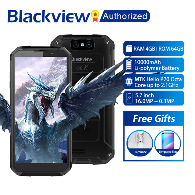 "Blackview BV9500 Plus Handy Android 9,0 Octa Core 5.7 ""Helio P70 4GB RAM 64GB ROM IP68 wasserdicht 4G Smartphone NFC OTG"