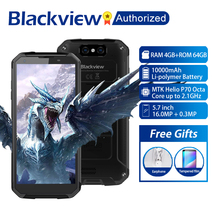 "Blackview BV9500 Plus Mobile Phone Android 9.0 Octa Core 5.7"" Helio P70 4GB RAM 64GB ROM IP68 Waterproof 4G Smartphone NFC OTG"