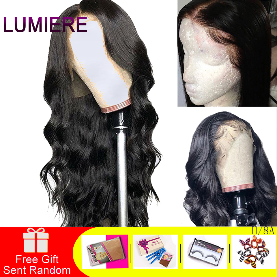 Lumiere Hair 13X4 Lace Front Human Hair Wig Brazilian Body Wave Lace Wig With Baby Hair Natural Hairline Remy Hair