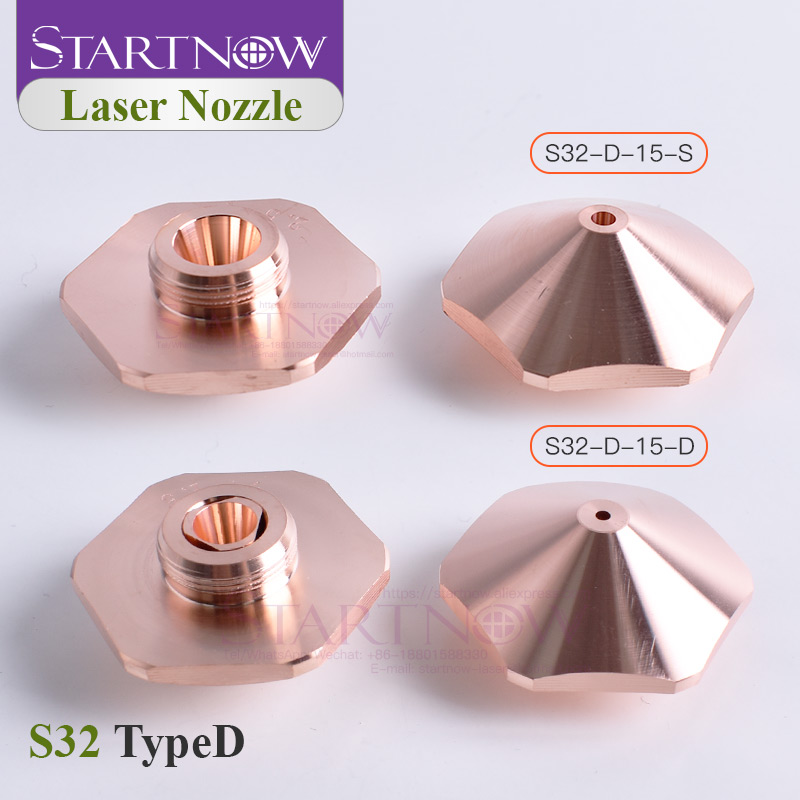 Startnow S32-D Bodor Laser Machine Nozzles Double Layer 1.6 1.8 2.0 3.0 3.5 4.5 5.0 OEM For Optical Fiber Metal Machine Head