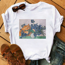 Summer New Casual Fashion Women Tshirts Cartoon Art Spoof Fu