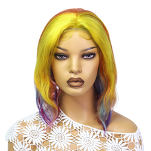 13*4*1 Transparent Lace Front Gold Yellow Colored Human Hair Wigs Brazilian Straight 130% 150% Density Highlight Wwig Human Hair
