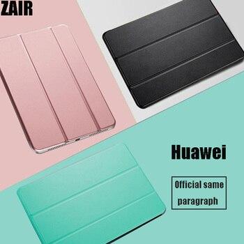 Etui na Tablet do Huawei MediaPad T5 10.1 cala PU skórzany stojak przezroczysty wewnętrzna powłoka do AGS2-W09/W19/L03/L09 ochronne fundas