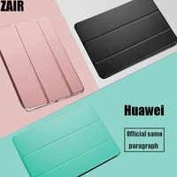 Funda protectora para tableta Huawei MediaPad T5, soporte de cuero PU de 10,1 pulgadas, carcasa interior transparente para AGS2-W09/W19/L03/L09