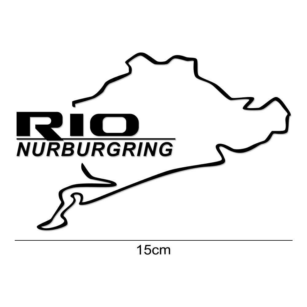 السيارات الوقود غطاء خزان ملصقات سيارة التصميم ديكور الشارات لكيا ريو 3 4 K2 K3 X-خط الفينيل سباق نوربورغرينغ صائق اكسسوارات السيارات
