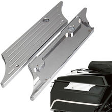 2Piece/Pair Motorcycle Saddlebag Latch Cover Chrome Billet Hard Fit For Harley Davidson Touring 1993-2013