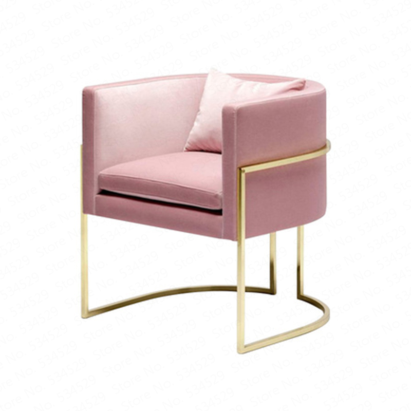 Lazy Nordic Single Ins Net Red Iron Leisure Creative Pink Clothing Store Balcony Living Room Bedroom Sofa Chair Dotomy