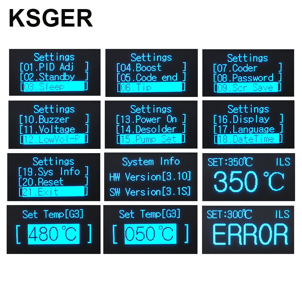 Image 4 - KSGER STM32 V3.1S T12 Soldering Station OLED DIY Aluminum Alloy FX9501 Handle Electric Tools Quick Heating T12 Iron Tips 8s TinsElectric Soldering Irons   - AliExpress
