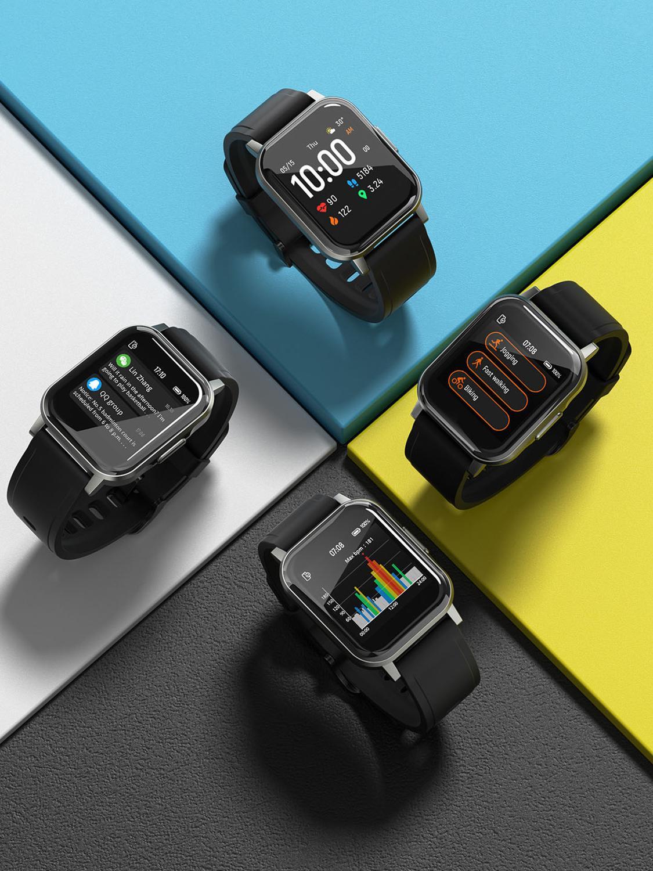New Haylou LS02 English Version Smart Watch, IP68 Waterproof ,12 Sport Modes,Call Reminder,