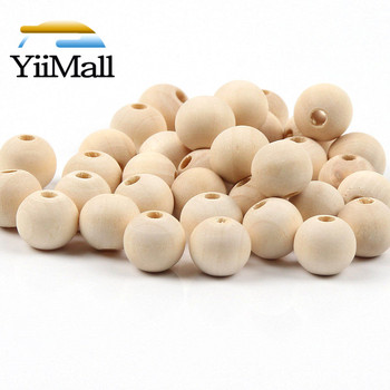 4-50mm DIY Natural Wood Round Beads Lead-Free Balls Loose Wooden Beads For Jewelry Making Bracelet Necklace Handmade Accessories unfinished wood printing africa girl round drop earrings wooden african hiphop tribal handmade diy jewelry natural accessories