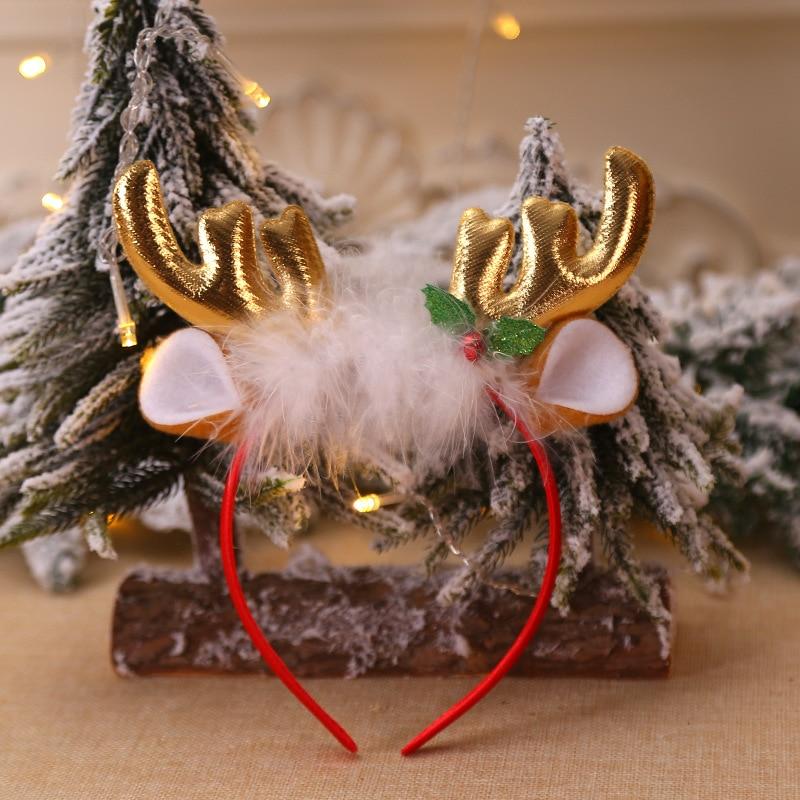 Рождественская шапка, повязка на голову, Рождественская декоративная шапка, повязка на голову, косплей, вечерние, шоу, повязка на голову, обруч для волос аксессуары для взрослых детей, Navidad - Цвет: C