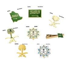 Insignia de Arabia Saudita, broche con forma de bandera, bandera nacional, Pin de solapa, colecciones de pines de viaje internacionales