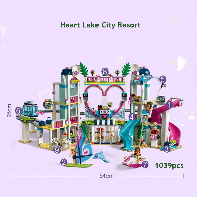 Friends The Heartlake City Resort Model Compatible Friends 41347 Building Block Brick Toys For Children