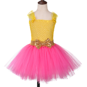 Image 2 - Princesa meninas lol tutu vestido com bandana bonito menina vestidos de festa aniversário crianças carnaval dia das bruxas lol bonecas cosplay traje