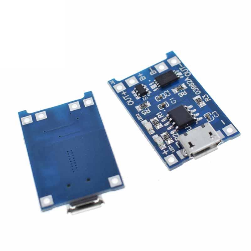 10 шт потребительских упаковок для микро USB 5V 1A 18650 TP4056 модуль зарядного устройства литиевой батареи зарядная плата с двухканальная видеокам...