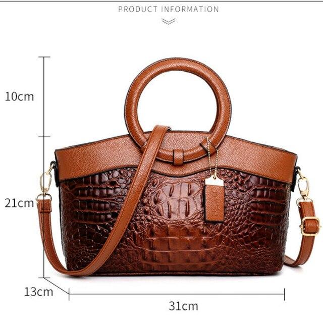 Bolsas de luxo das mulheres sacos de designer crossbody sacos de couro de crocodilo feminino bolsa de ombro das senhoras tote bolsa retro 3