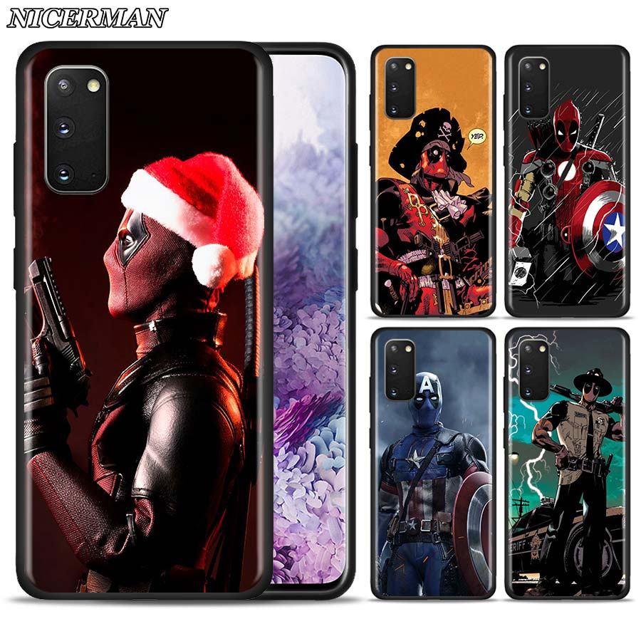 Thin <font><b>Case</b></font> Cover for <font><b>Samsung</b></font> Galaxy S20 Ultra S10 S10E S10 5G S9 S8 Plus <font><b>S7</b></font> Egde Silicone TPU Shell <font><b>Marvel</b></font> The Avengers Dead Pool image