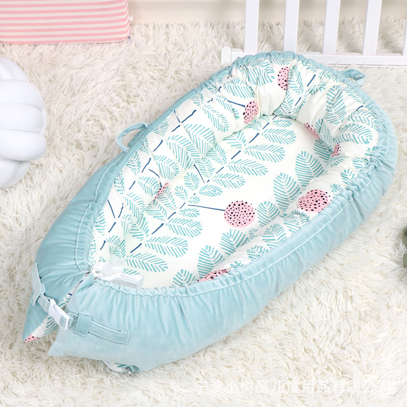 Ins wind crib middle bed newborn bed flannel fruit bionic crib baby room baby crib bumper protector  toddler room decor