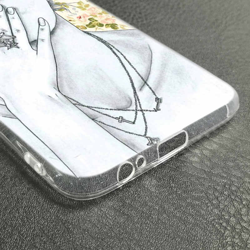 Doux coque en silicone Mode reine fille patron pour Samsung Galaxy J8 J7 J6 J4 J2 2018 Noyau J3 2016 J5 2017 L'UE J4 Plus J7 Premier Couverture