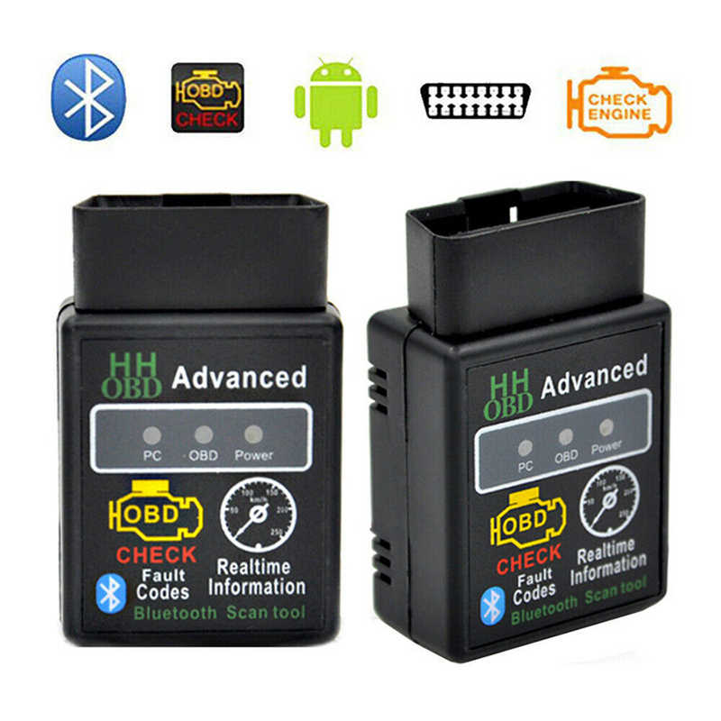 1PCS Universal V2.1 ELM327 HH OBD 2 OBDII Petrol Car Auto Bluetooth Android Torque/PC Diagnostic Scan Tool Interface Car Scanner