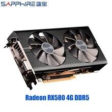 SAPPHIRE AMD Radeon RX 580 4GB Grafikkarten Gaming PC Video Karte RX580 256bit 4GB GDDR5 PCI Express 3,0 Desktop Verwendet RX580