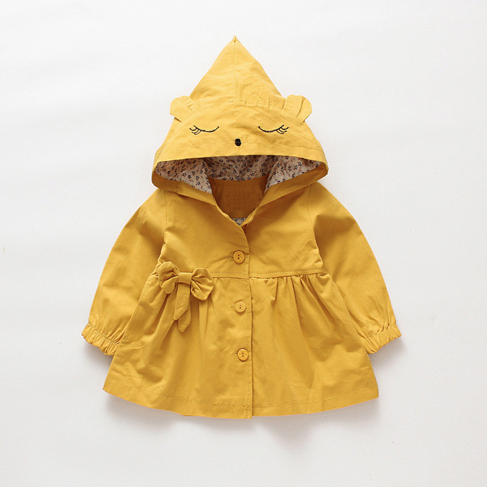Coat Outerwear Jacket Toddler Baby-Girls Infant Winter Hoodie Long-Sleeve Autumn Children