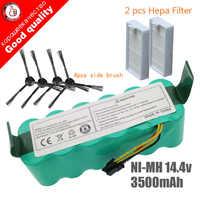 7 個ニッケル水素 14.4V 3500 用パンダ X500 バッテリーバッテリー ecovacs ミラー CR120 掃除機 Dibea X500 x580 X600 バッテリー