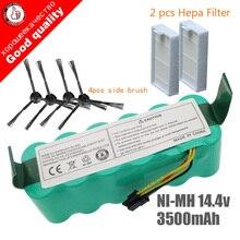 Bateria para panda x500, 7 peças ni mh 14.4v 3500mah para bateria de ecovacs espelhado cr120 aspirador de pó dibea x500 bateria x580 x600
