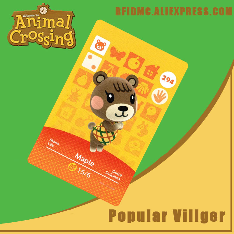 294 Maple Animal Crossing Card Amiibo For New Horizons