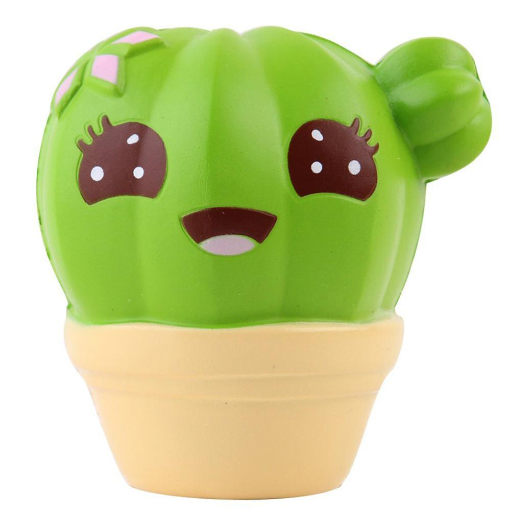 Cartoon Cactus Plant Pot Slow Rising Soft Squeezing Stress Relief Kid Toy Gift Scented Stress Relief For Kid Xmas Fun Gift