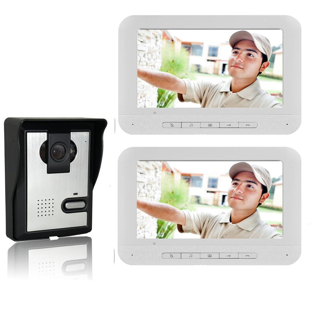 SmartYIBA Video Intercom 7''Inch Monitor Wired Video Door Phone Doorbell Door Intercom Camera Entry System For Home Security