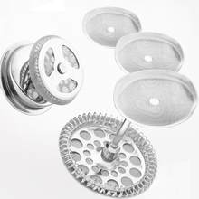 Кухонные принадлежности 3 шт., многоразовый фильтр из нержавеющей стали для кофе